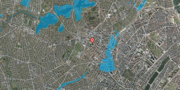 Oversvømmelsesrisiko fra vandløb på Gråspurvevej 49, 1. th, 2400 København NV
