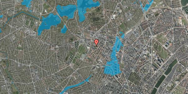 Oversvømmelsesrisiko fra vandløb på Gråspurvevej 49, 2. th, 2400 København NV