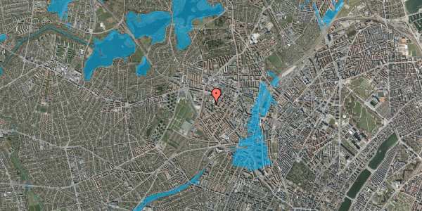 Oversvømmelsesrisiko fra vandløb på Gråspurvevej 51, 3. 2, 2400 København NV