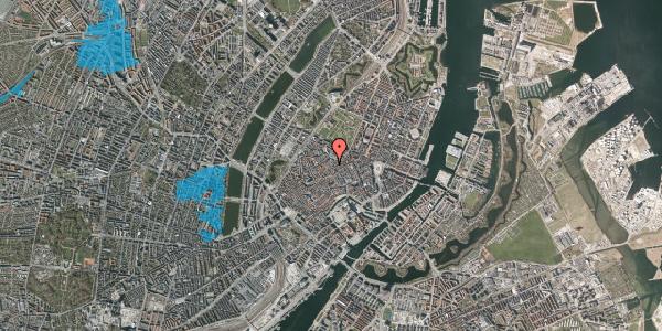 Oversvømmelsesrisiko fra vandløb på Købmagergade 48A, 1. 1, 1150 København K