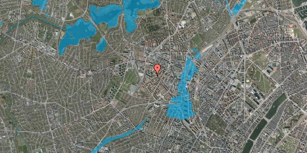 Oversvømmelsesrisiko fra vandløb på Stærevej 28B, st. , 2400 København NV