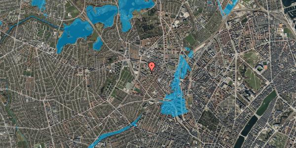 Oversvømmelsesrisiko fra vandløb på Stærevej 28D, 1. 1, 2400 København NV