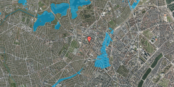 Oversvømmelsesrisiko fra vandløb på Stærevej 28D, 1. 4, 2400 København NV