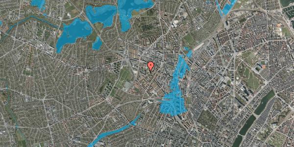 Oversvømmelsesrisiko fra vandløb på Stærevej 28D, 2. 2, 2400 København NV