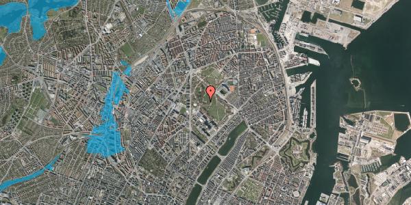 Oversvømmelsesrisiko fra vandløb på Edel Sauntes Allé 22, 2100 København Ø