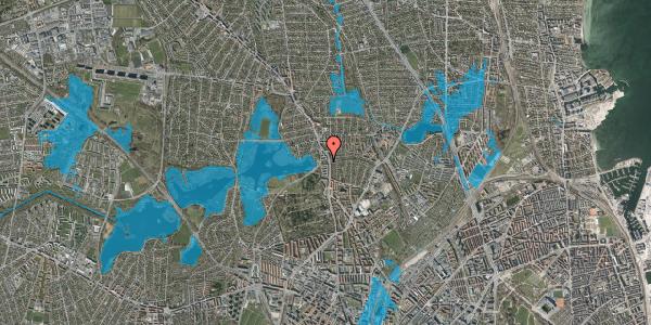 Oversvømmelsesrisiko fra vandløb på Bispebjerg Parkallé 41B, 2400 København NV
