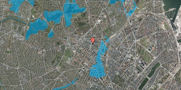 Oversvømmelsesrisiko fra vandløb på Rentemestervej 17, 2400 København NV