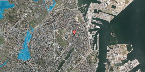 Oversvømmelsesrisiko fra vandløb på Sankt Jakobs Plads 8, 2100 København Ø