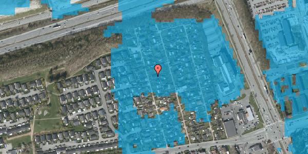 Oversvømmelsesrisiko fra vandløb på Hf. Kettehøj 15, 2650 Hvidovre