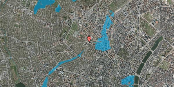 Oversvømmelsesrisiko fra vandløb på Jordbærvej 13, 2400 København NV