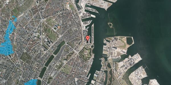 Oversvømmelsesrisiko fra vandløb på Dampfærgevej 2, st. , 2100 København Ø