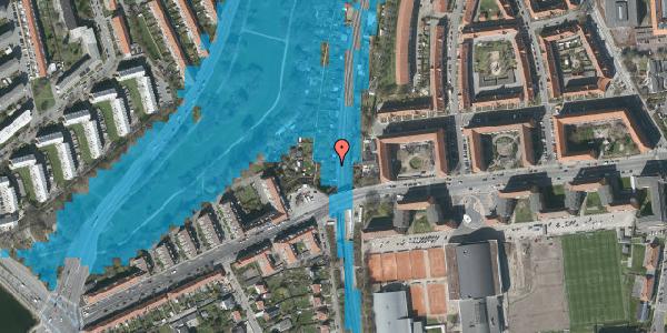 Oversvømmelsesrisiko fra vandløb på Hf. Zenia-Lindevang 6, 2000 Frederiksberg