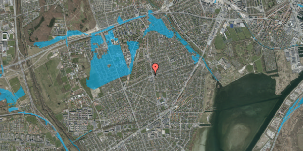 Oversvømmelsesrisiko fra vandløb på Hvidovrevej 336A, 1. tv, 2650 Hvidovre