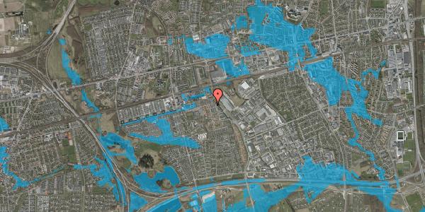 Oversvømmelsesrisiko fra vandløb på Skovkløvervænget 11, 2625 Vallensbæk