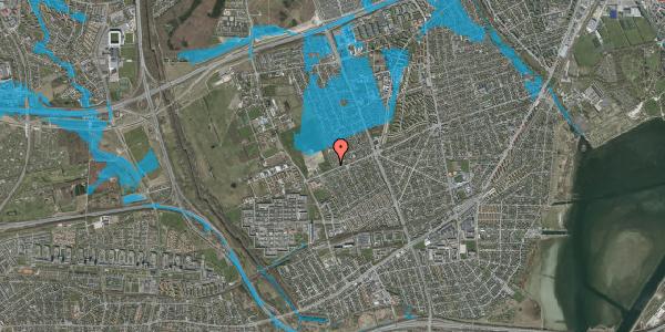 Oversvømmelsesrisiko fra vandløb på Hf. Dahlia 106, 2650 Hvidovre