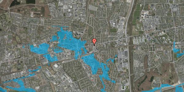 Oversvømmelsesrisiko fra vandløb på Glostrup Shoppingcenter 28, st. , 2600 Glostrup