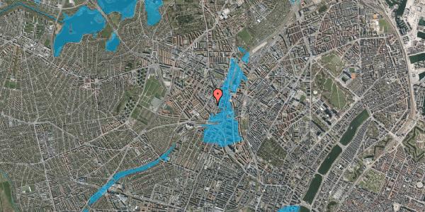 Oversvømmelsesrisiko fra vandløb på Hejrevej 34A, st. , 2400 København NV