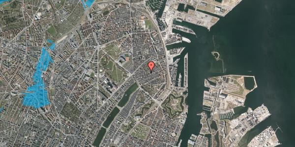 Oversvømmelsesrisiko fra vandløb på Saabyesvej 8, 1. th, 2100 København Ø