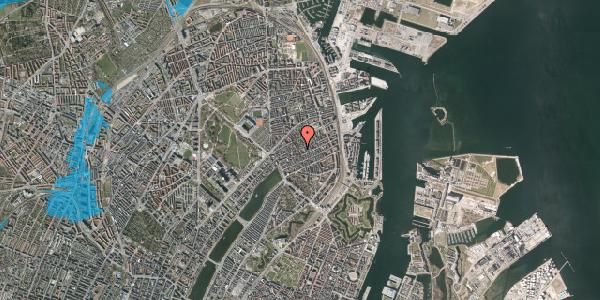 Oversvømmelsesrisiko fra vandløb på Saabyesvej 10, st. tv, 2100 København Ø