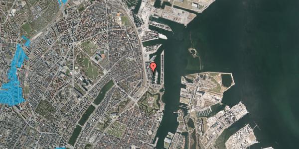Oversvømmelsesrisiko fra vandløb på Amerika Plads 1, 8. , 2100 København Ø
