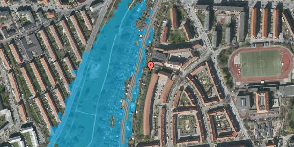 Oversvømmelsesrisiko fra vandløb på Haven 6A, 2000 Frederiksberg