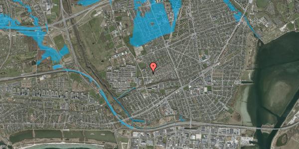 Oversvømmelsesrisiko fra vandløb på Mellemvangsvej 34, 2650 Hvidovre
