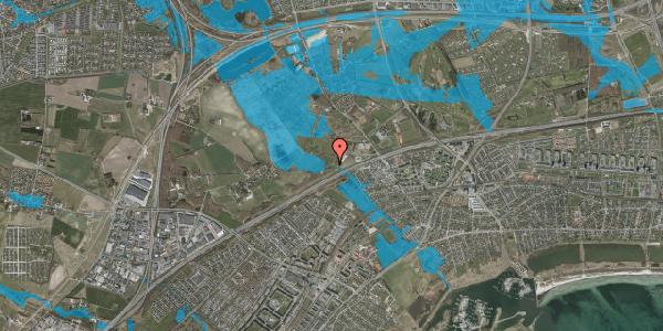 Oversvømmelsesrisiko fra vandløb på Lundbækvej 21, 2625 Vallensbæk