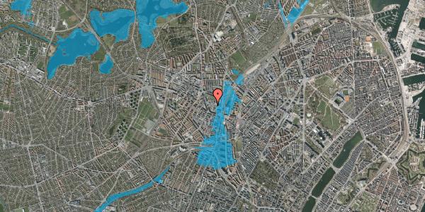 Oversvømmelsesrisiko fra vandløb på Drejervej 8G, 2400 København NV