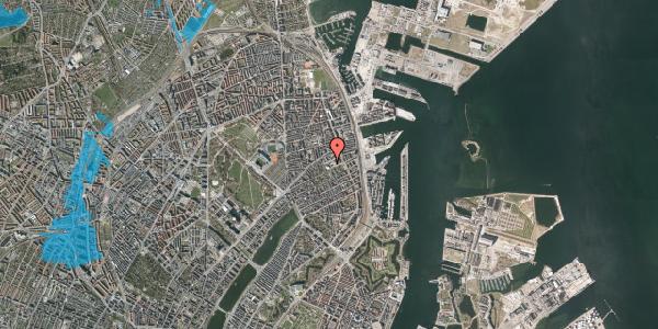 Oversvømmelsesrisiko fra vandløb på Rosenvængets Hovedvej 35, 2. , 2100 København Ø