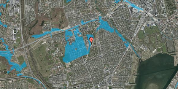 Oversvømmelsesrisiko fra vandløb på Arnold Nielsens Boulevard 73, 1. , 2650 Hvidovre