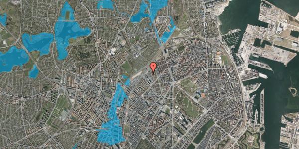 Oversvømmelsesrisiko fra vandløb på Emblasgade 107, 1. tv, 2100 København Ø