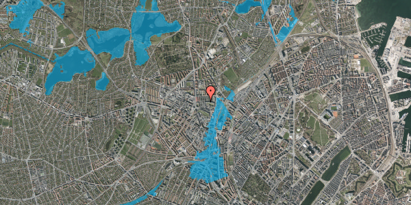 Oversvømmelsesrisiko fra vandløb på Bisiddervej 20, 3. th, 2400 København NV
