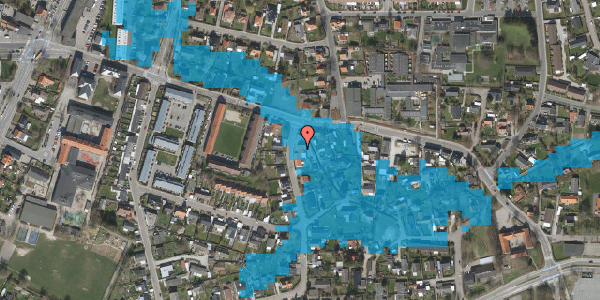Oversvømmelsesrisiko fra vandløb på Åvænget 1A, 2630 Taastrup