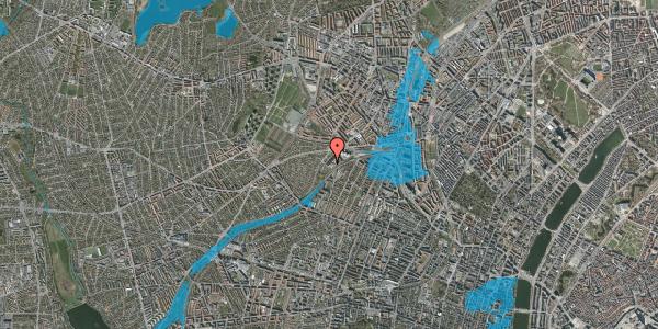 Oversvømmelsesrisiko fra vandløb på Jordbærvej 133, 2400 København NV