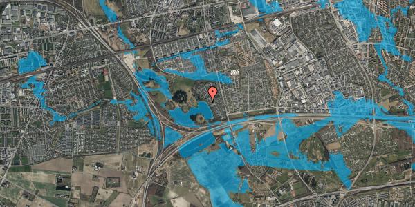 Oversvømmelsesrisiko fra vandløb på Rendsagervej 9D, 2625 Vallensbæk