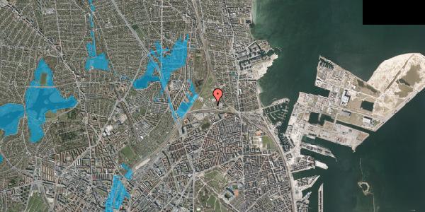 Oversvømmelsesrisiko fra vandløb på Svanemøllens Kaserne 91, 2100 København Ø