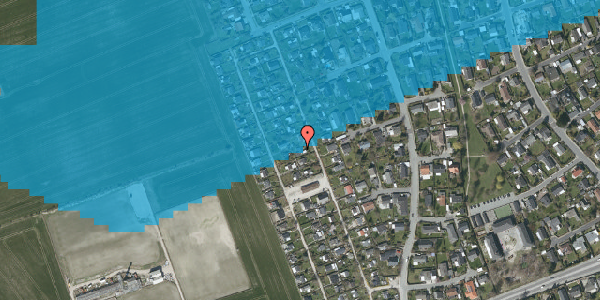 Oversvømmelsesrisiko fra vandløb på Hf. Dahlia 33, 2650 Hvidovre