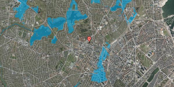 Oversvømmelsesrisiko fra vandløb på Birkedommervej 33, st. , 2400 København NV