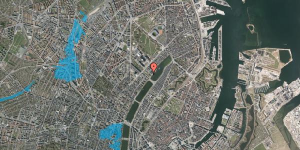 Oversvømmelsesrisiko fra vandløb på Sortedam Dossering 53A, 2100 København Ø