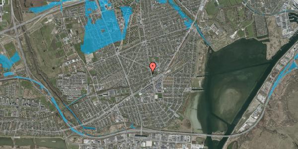 Oversvømmelsesrisiko fra vandløb på Achilles Alle 14B, 2650 Hvidovre