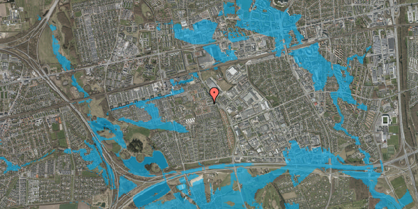 Oversvømmelsesrisiko fra vandløb på Promenaden 8, 2625 Vallensbæk