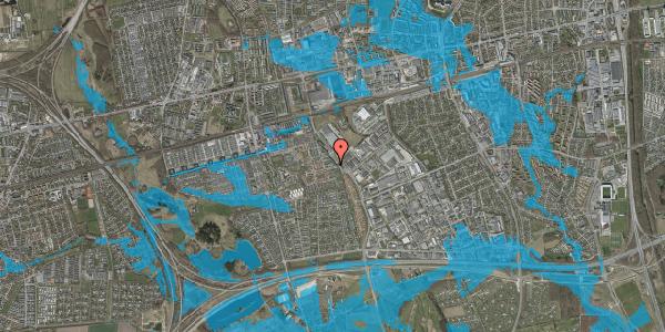 Oversvømmelsesrisiko fra vandløb på Promenaden 34, 2625 Vallensbæk
