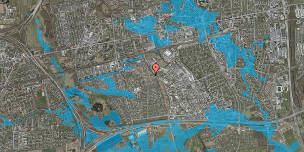 Oversvømmelsesrisiko fra vandløb på Promenaden 54, 2625 Vallensbæk
