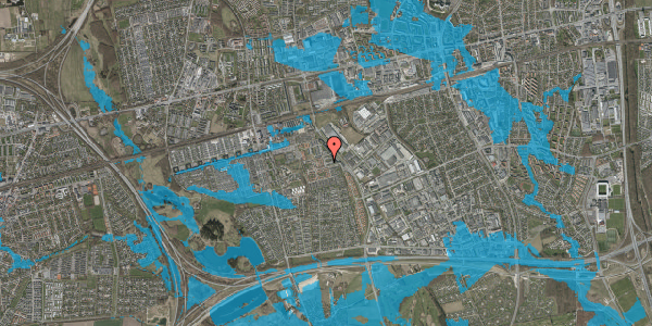 Oversvømmelsesrisiko fra vandløb på Promenaden 70, 2625 Vallensbæk