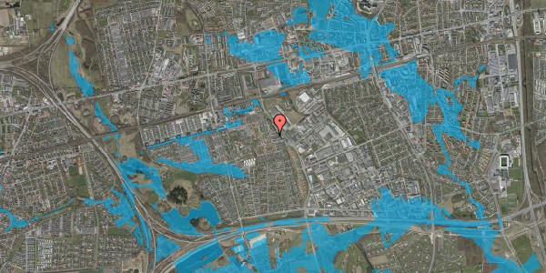 Oversvømmelsesrisiko fra vandløb på Promenaden 82, 2625 Vallensbæk