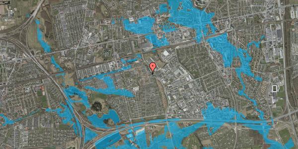 Oversvømmelsesrisiko fra vandløb på Promenaden 86, 2625 Vallensbæk