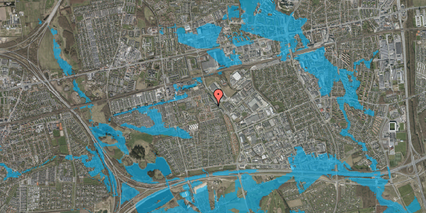 Oversvømmelsesrisiko fra vandløb på Promenaden 88, 2625 Vallensbæk
