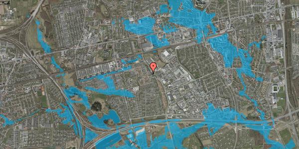Oversvømmelsesrisiko fra vandløb på Promenaden 90, 2625 Vallensbæk