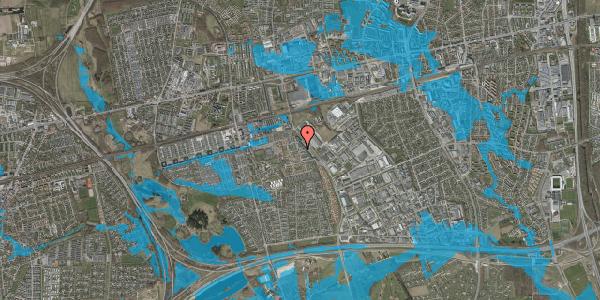 Oversvømmelsesrisiko fra vandløb på Promenaden 124, 2625 Vallensbæk