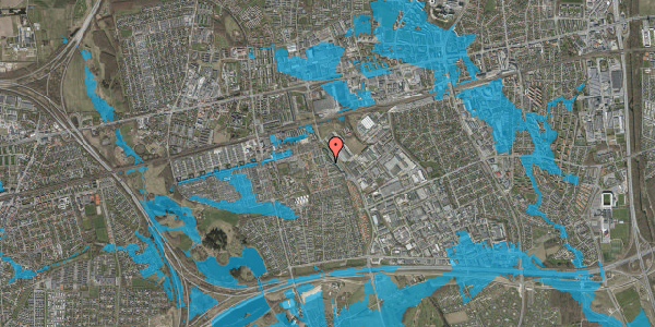 Oversvømmelsesrisiko fra vandløb på Promenaden 126, 2625 Vallensbæk